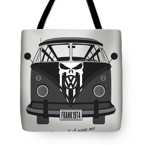 My Superhero-vw-t1-punisher Tote Bag