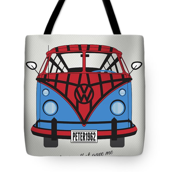 My Superhero-vw-t1-spiderman Tote Bag