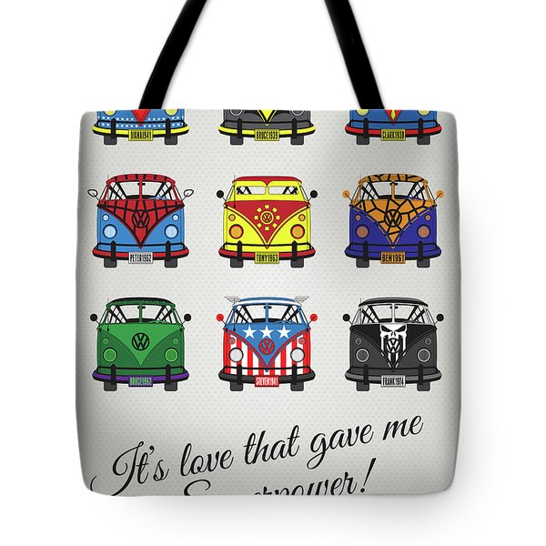 My Superhero-vw-t1-supermanmy Superhero-vw-t1-universe Tote Bag