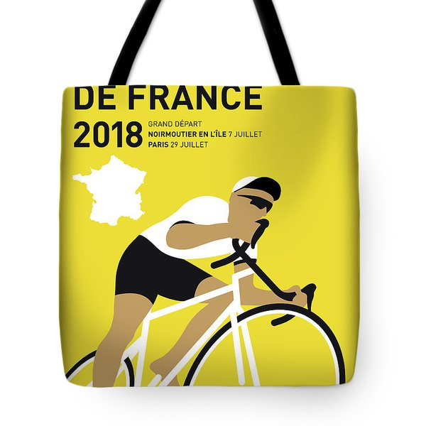 My Tour De France Minimal Poster 2018 Tote Bag
