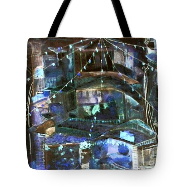 My Town In Festive Mood Tote Bag