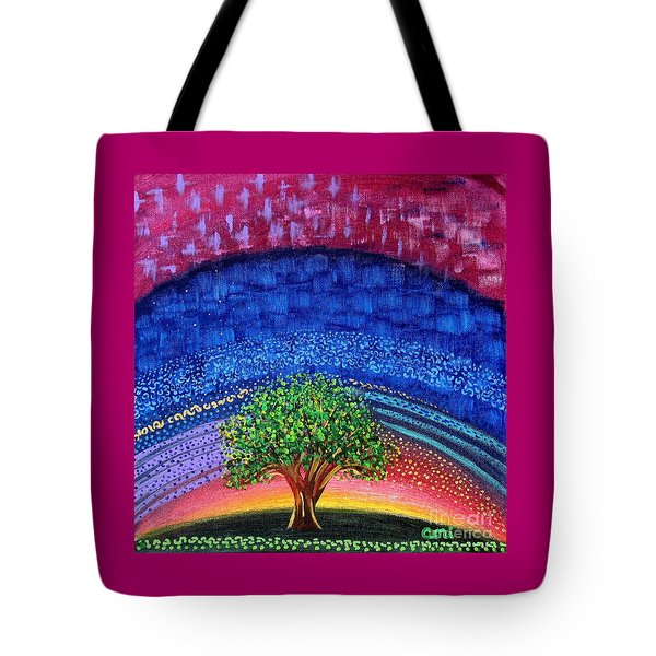 Tree At Nightfall Tote Bag