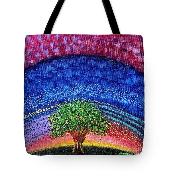 Tree At Nightfall Tote Bag