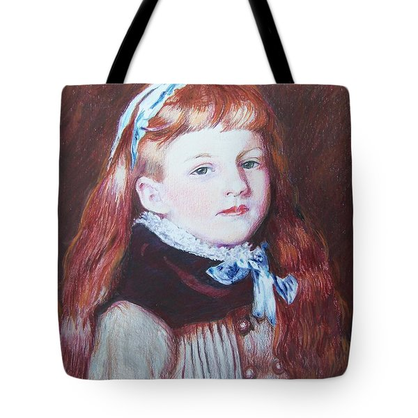 Tote Bag featuring the mixed media My Version Of A Renoir by Constance DRESCHER