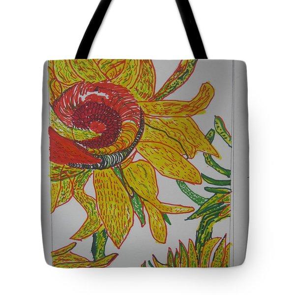 My Version Of A Van Gogh Sunflower Tote Bag