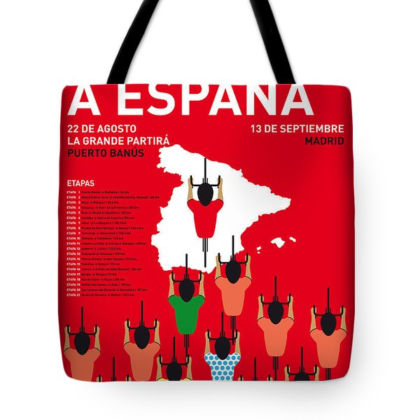 My Vuelta A Espana Minimal Poster Etapas 2015 Tote Bag by Chungkong Art
