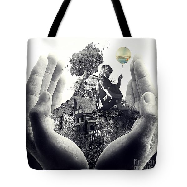 Tote Bag featuring the digital art My Way by Mo T