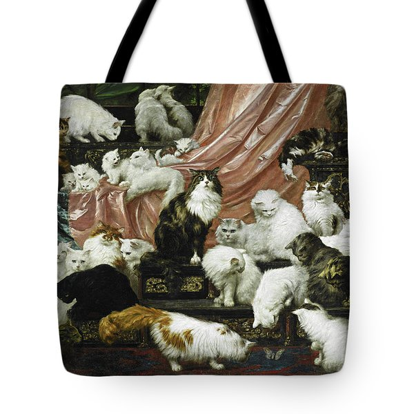 Tote Bag featuring the painting My Wife's Lovers by Carl Kahler