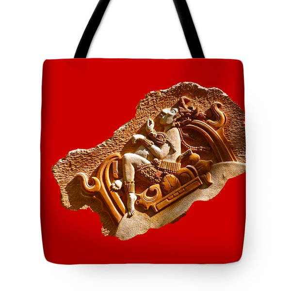 Tote Bag featuring the digital art Myan Wall Art D by Francesca Mackenney
