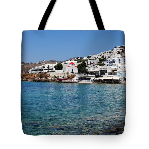 Mykonos Beach Tote Bag