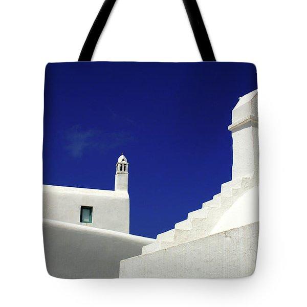 Mykonos Greece Architectual Line 5 Tote Bag by Bob Christopher