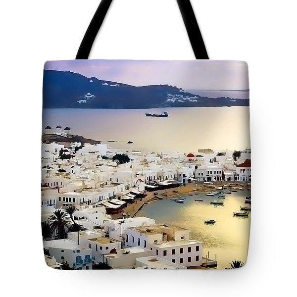 Mykonos Greece Tote Bag