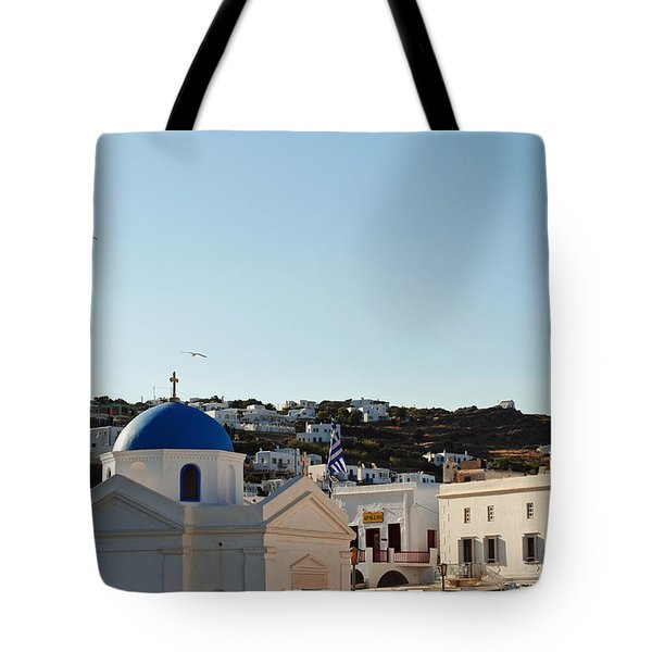 Mykonos Sunrise Tote Bag