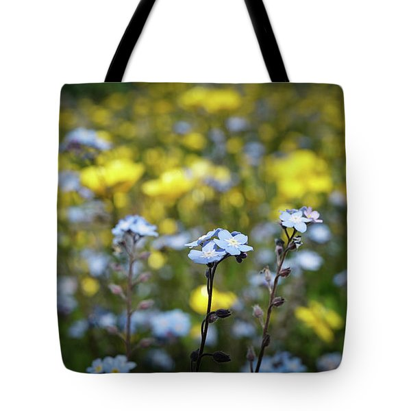 Myosotis With Yellow Flowers Tote Bag