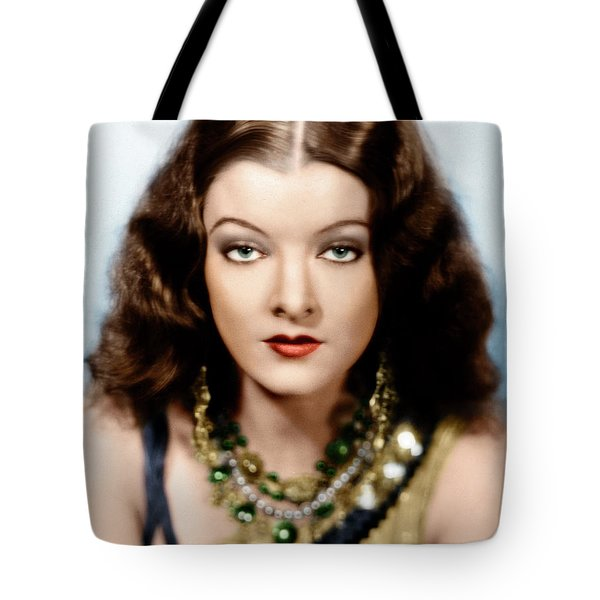 Tote Bag featuring the photograph Myrna Loy by Granger