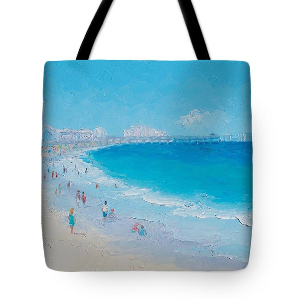 Myrtle Beach And Springmaid Pier Tote Bag