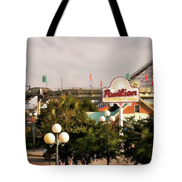 Myrtle Beach Pavillion Amusement Park Tote Bag