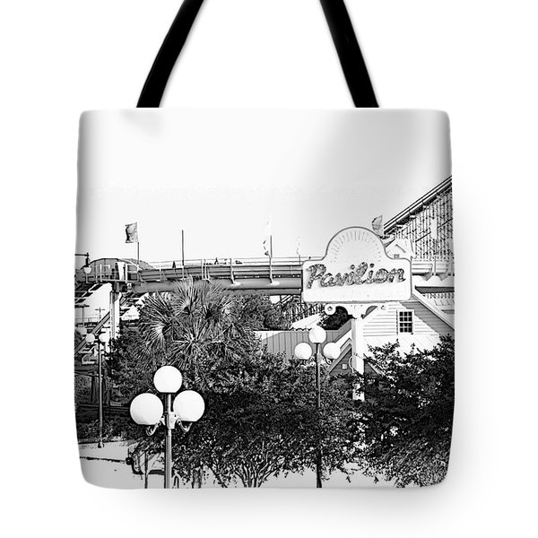 Myrtle Beach Pavillion Amusement Park Monotone Tote Bag