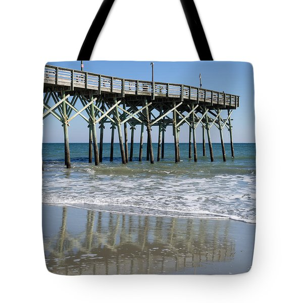 Myrtle Beach Pier Tote Bag