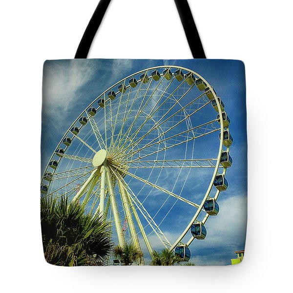 Tote Bag featuring the photograph Myrtle Beach Skywheel by Bill Barber