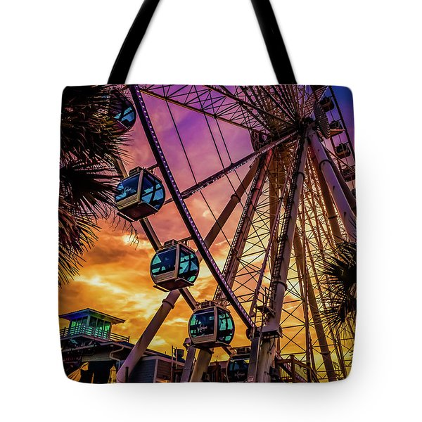 Myrtle Beach Skywheel Tote Bag
