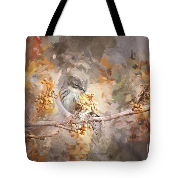 Myrtle Warbler Two Tote Bag by Suzanne Handel