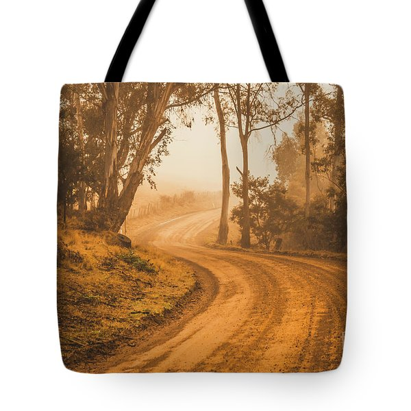 Mysterious Autumn Trail Tote Bag