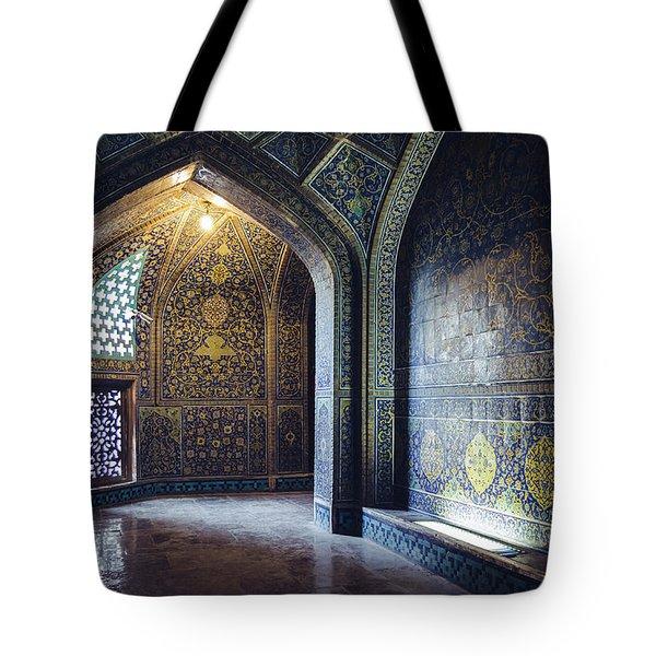 Mysterious Corridor In Persian Mosque Tote Bag