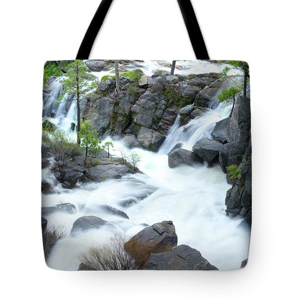 Mysterious Falls In Yosemite Tote Bag