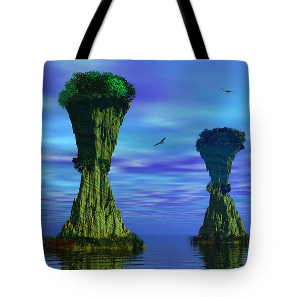 Mysterious Islands Tote Bag