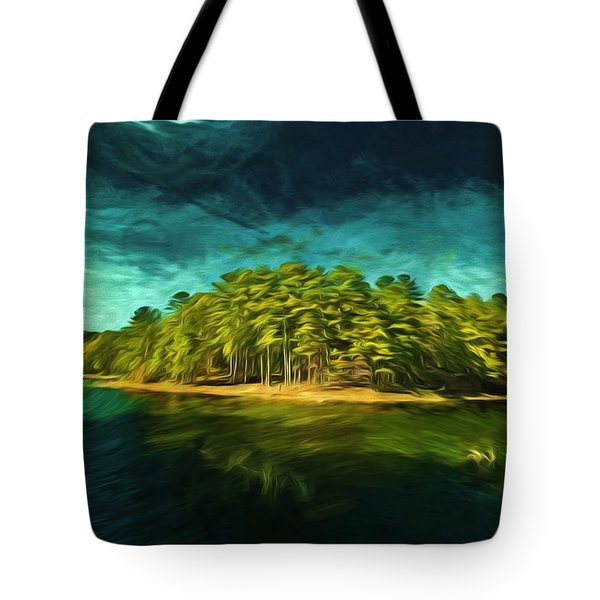 Mysterious Isle Tote Bag by Dennis Baswell