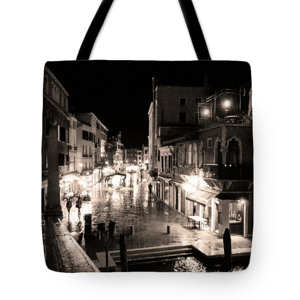 Mysterious Venice Monochrom Tote Bag