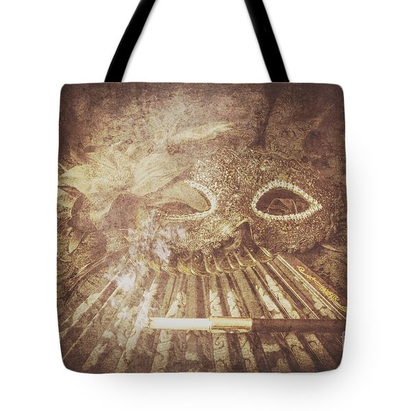 Mysterious Vintage Masquerade Tote Bag