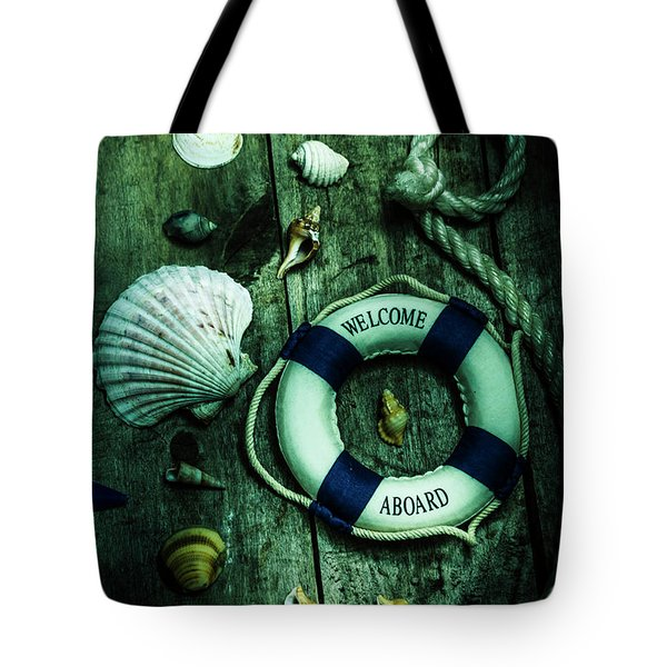 Mystery Aboard The Sunken Cruise Line Tote Bag