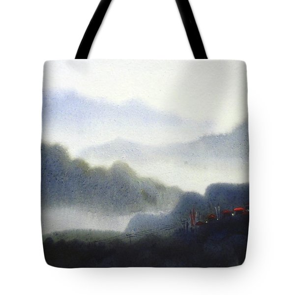 Tote Bag featuring the painting Mystery Himalaya  by Samiran Sarkar