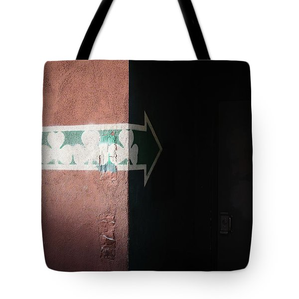 Tote Bag featuring the photograph Mystery In The Doorway by Monte Stevens