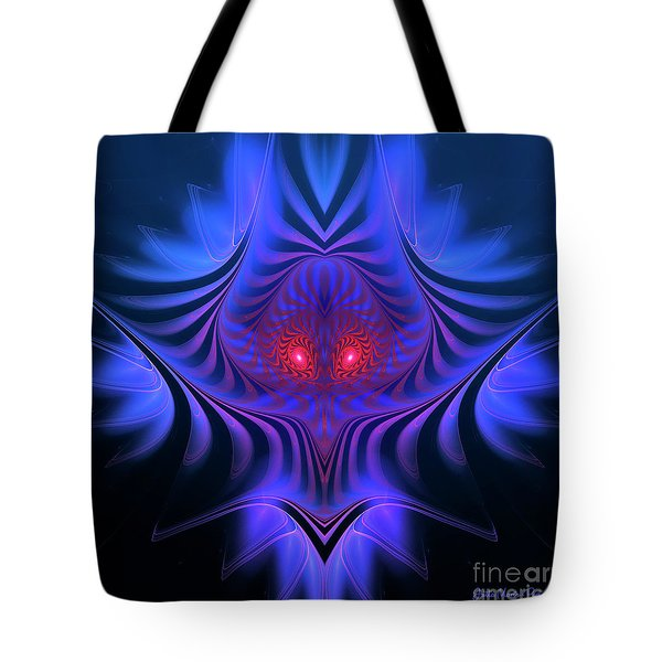 Tote Bag featuring the digital art Mystery by Jutta Maria Pusl