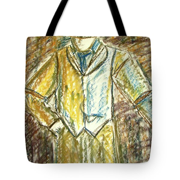 Tote Bag featuring the painting Mystery Man by Cathie Richardson
