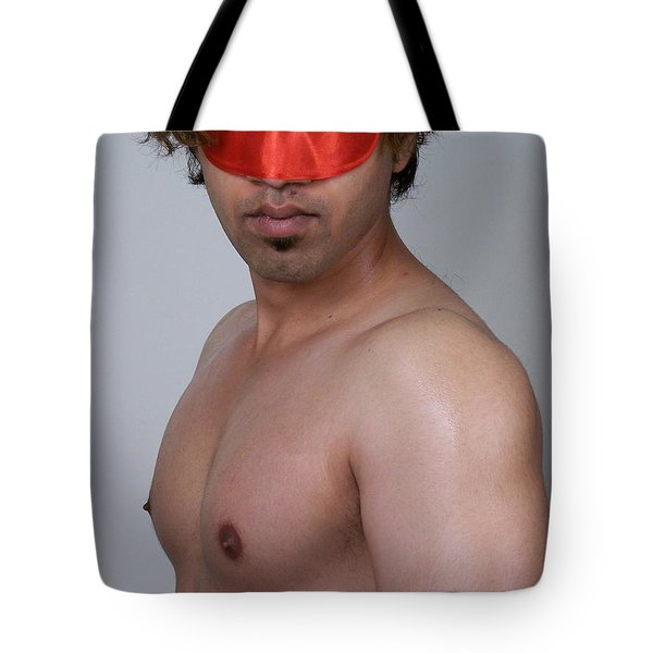 Mystery Mask Tote Bag by Jake Hartz