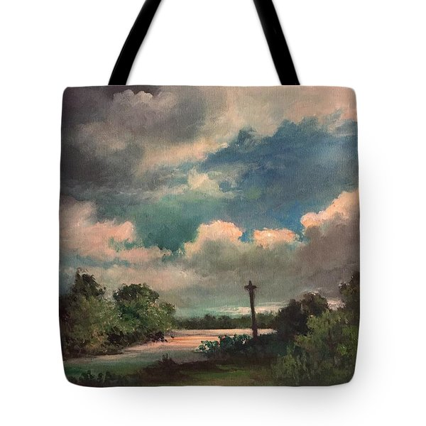 Mystery Of God  The Eye Of God Tote Bag by Randy Burns