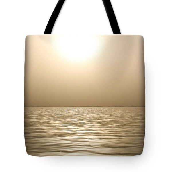 Tote Bag featuring the photograph Mystery Sandstorm Sunset- The Red Sea by Glenn Feron