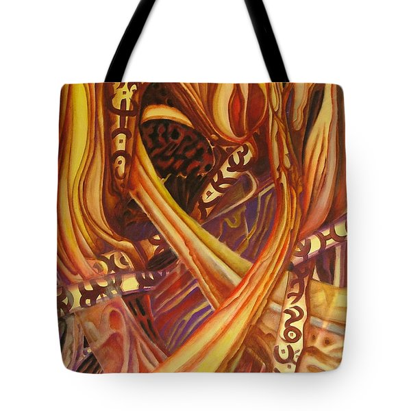 Mystery Signs Tote Bag by Rita Fetisov