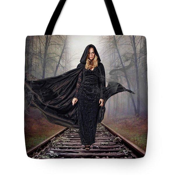 Mystery Train Tote Bag