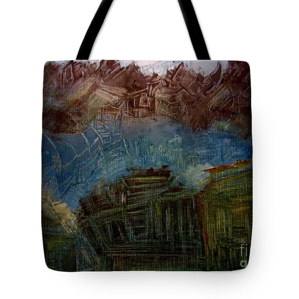 Mystery Village Tote Bag