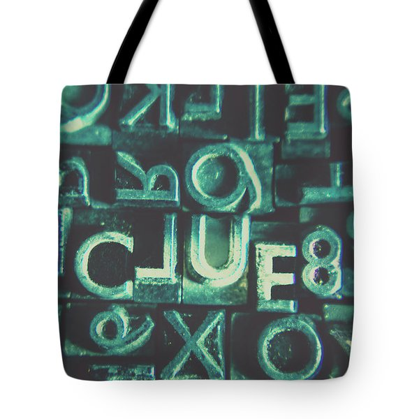 Mystery Writer Clue Tote Bag