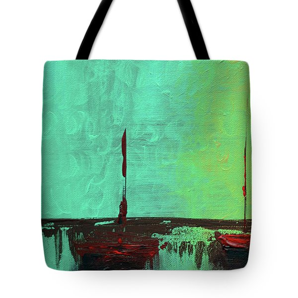 Mystic Bay Triptych 1 Of 3 Tote Bag