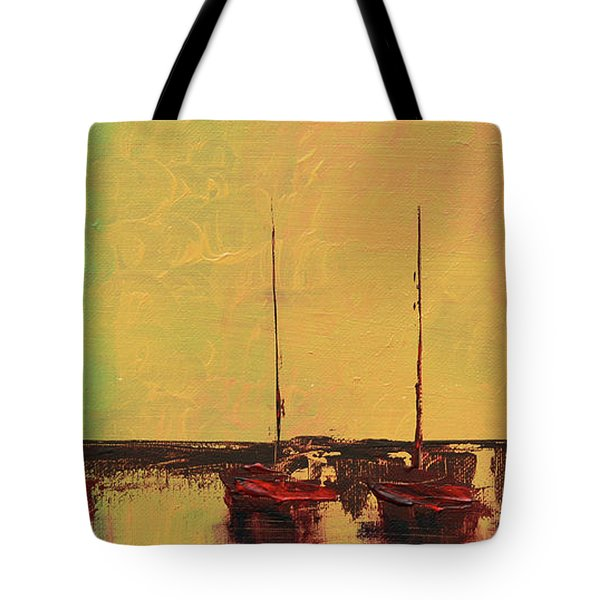 Mystic Bay Triptych 2 Of 3 Tote Bag