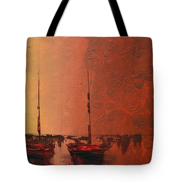 Mystic Bay Triptych 3 Of 3 Tote Bag
