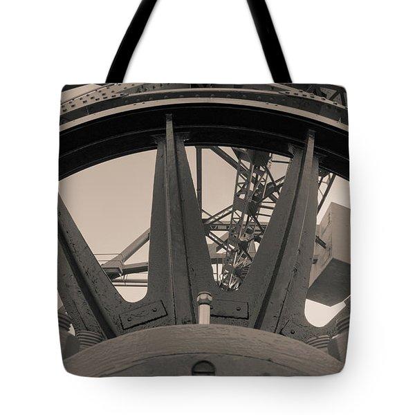 Mystic Bridge Gear In Mystic Ct Tote Bag