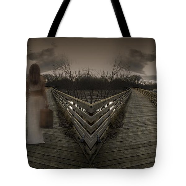 Mystic Bridge In A Dream World Tote Bag
